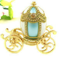 Wholesale Wedding car egg carving jewelry box romantic