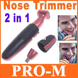 Wholesale 2 in Men s Deluxe Groomer Face Ear Beard Nose Trimmer Hair Shaver Clipper Cleaner Dropshipping