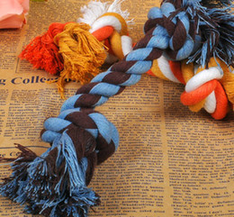 fashion XS-L low price lovely Dog Puppy Pet Cotton Braided Bone Rope Chew Knot Toy