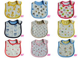 Wholesale Very nice layer bibs Waterproof Baby bibs cotton bibs Cartoon baby bib