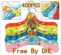 Clothes baby closets - New Cute Cartoon Animals Wooden kids Clothes Hanger baby children hanger styles Free By DHL