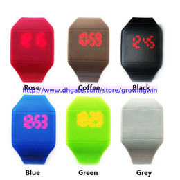 Wholesale 40pcs plastic rubber ultra thin touch led sports watch electronic digital jelly candy watches