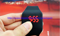 Wholesale 300pcs touch screen led watch plastic digital rubber unisex ultra thin fashion sport men watches