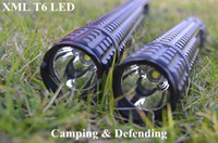 Wholesale Waterproof LM XML T6 LED flashlight for SOS Defending Patrol Camp Hunting Fishing Climbing X