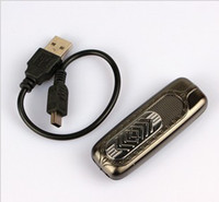 Wholesale Rechargeable Flameless USB Electronic Cigarette Lighter Green Electronic Cigarette Lighter