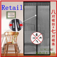 Wholesale Retail Magic Mesh Insect Door Curtain Pet Fly Mosquito Screen Hands Free Magnets Net
