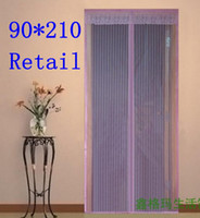 Wholesale 2013 summer mosquito control magnetic anti mosquito fly proof the soft curtain summer home multico