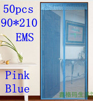 Wholesale 50pcs EMS Summer Moth Screen Magnetic Door Net Curtain home anti mosquito fly proof