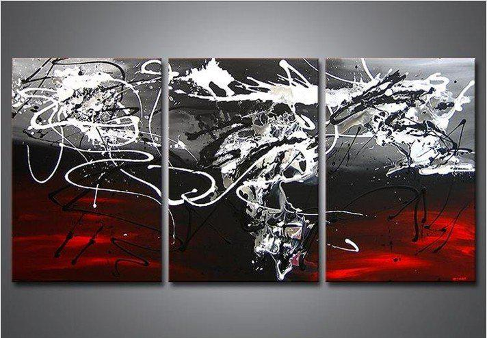Wholesale Oil Painting - Buy Hand-painted The Red And Black High Q