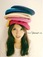 Wholesale pure color berets lady s hat fashion beret Hats