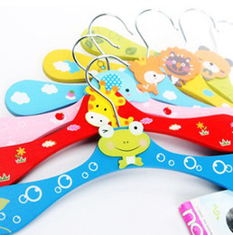 Wholesale Animal Clothes Hanger Baby cartoon Wooden children tree coat hanger kids Designs