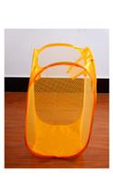 Wholesale Clothing Racks New Colorful Foldable Pop Up Nylon Mesh Washing Laundry Basket Convenient Washing Clothes Bag