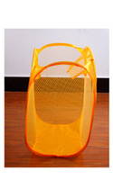 Wholesale New Colorful Foldable Pop Up Nylon Mesh Washing Laundry Basket Convenient Washing Clothes Bag