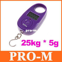 Digital scale 10kg-100kg 3 selectable units: kg, lb, jin 25kg*5g 25kgx5g 25kg-5g Mini Purple Display Hanging Luggage Fishing Weighing Digital Scale KG LB