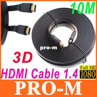 Wholesale 10M FT Full P D Flat HDMI Cable for XBOX PS3 HDTV HDMI Male to Male Digital Cable