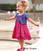 TuTu Summer A-Line New Girl Dress+Coat 2Piece Sets Baby Polka Dot Dresses Tutu Girl Summer New Dress Kids Clothing