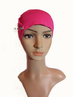 alopecia headwear - HOT sale Chemo soft hat Wig accessory women turban hat Alopecia caps Customized Beanie Headwear