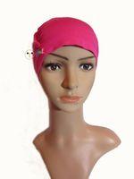 alopecia headwear - HOT Chemo soft hat Wig accessory women cotton jersey turban hat Alopecia caps Customized Beanie Headwear