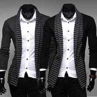 Wholesale 2585 New HOT spring men s Sweaters men s long sleeved Streak cardigan sweaters Size M L XL XXL