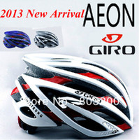 Wholesale 2013 New arrival road bike cycling helmet super light giant AEON sport bicycle helmets holes with