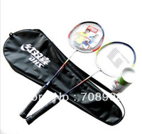 Wholesale Cheap Price Badminton Racket Set High Quality Aluminium Badminton Pack w Full Cov