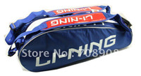Wholesale High Quality Lining Brand Racket Sports Bag for rackets New Style Double Belt Gold