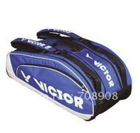 Wholesale Victor Brand Badminton Racket Bag for rackets Single Belt Jacquard Polyester mate