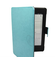 Wholesale High Quality Protective PU Leather Case for Kindle KPW Cover Case Colors Light Blue DHL Free