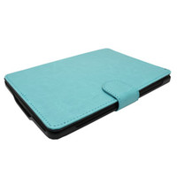 Wholesale Good Quality Protective PU Leather Case for Kindle KPW Cover Case Colors Light Blue DHL Free