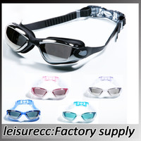 Leisure Goggles adult definition - Swimming Goggles High Definition With Earplugs Swimming Games Plating Antifog Waterproof Swim Goggles HW0067