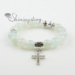 cross semi precious stone amethyst agate turquoise jade rose quartz charm bracelets Spsb0151TC0 high fashion jewellery