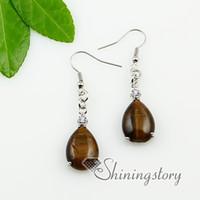 Wholesale teardrop semi precious stones earring birth stone jewelry natural stone jewellery Spse0096TC0 cheap china fashion jewellery