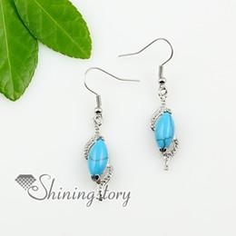 olive teardrop amethyst opal tigereye agate semi precious stone dangle earrings Spse0106TC0 handmade fashion jewellery