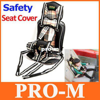 Wholesale Portable Baby Child Car Safety Booster Seat Cover Harness Cushion Cream