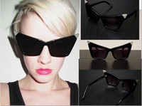 Wholesale Fashion cat eye sunglasses vintage black sunglasses for men anda women ESM freeshipping