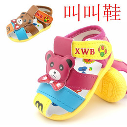 Wholesale Bear Baby Children Sandal With Voice babyFirst Walker Shoes Toddler Baby Boys Girl Infant Shoes