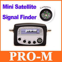 Wholesale Mini Digital Satellite Signal Finder Meter LCD Displaying Compass Freeshipping Dropshipping
