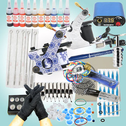 Wholesale Starter Tattoo Machine Guns Power Supplies Inks Needles Equipment Kit Kits USA warehouse WS K103