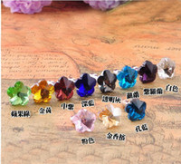 Wholesale 10PCS Mixed colours crystal flower earphone dustproof plug stopper