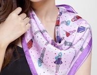 Wholesale 100 fashion silk scarf elegant silk shawl silk printed square scarf cm sell in piece
