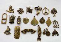 40PCS Mixed Lots of Antiqued Bronze Charm Pendants #22805