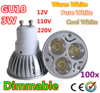 Wholesale 100x Dimmable High Power W GU10 E27 MR16 LED Light Bulb Downlight LED Lamp Spotlight LED Lighting