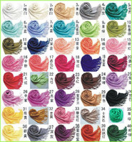 Yarn Dyed Long Jacquard DHL Free Ship Mix 40 Colors 100PCS lot Cashmere Pashmina scarf shawl, scarf nova Women wraps Scarves