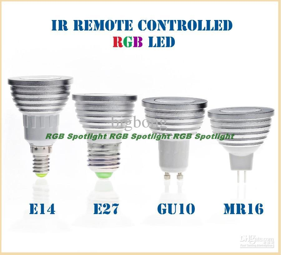 Best Gu10 E27 E14 B22 Mr16 Gu53 Mr11 3w Led Rgb Colour
