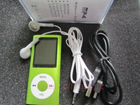 Wholesale Green color quot LCD MP3 MP4 Player speaker Video Radio FM support TF Memory Card