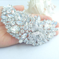 Wholesale 4 quot Tiara Bridal Rose Flower Hair Comb w Clear Rhinestone Crystals FSE04058C1