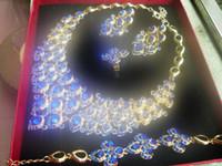 free shipping Fashion Jewelry Sets Inlaid Zircon Luxury Allo...