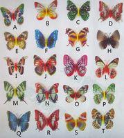 Wholesale 8 CM Simulation Butterfly Fridge Magnets stylish appearance lifelike Night glowing Home Decor