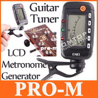 Wholesale 3 in LCD Guitar Tuner Metronome Tone Generator EMT I6
