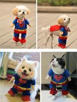 Wholesale CHIC Cotton Clothes Costumes Superman Suit FOR Pet Puppy